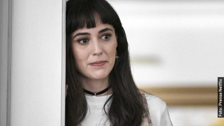 Ella es Sophie en Luis Miguel, serie de Netflix, y en la vida real