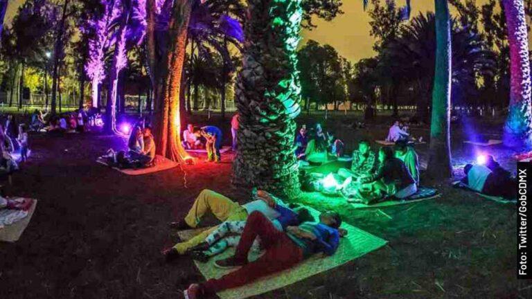 Calendario 2021 de picnic nocturno en la CDMX